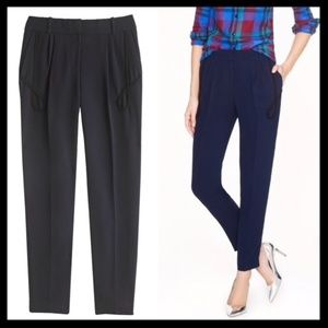 j. crew collection // crepe navy blue ankle pants